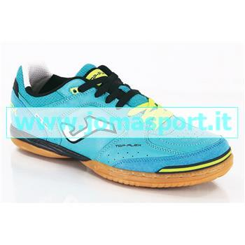 JOMA Scarpa Top Flex 414 Turchese Navy Indoor Sala (40,5 - CELESTE - BLU NAVY)