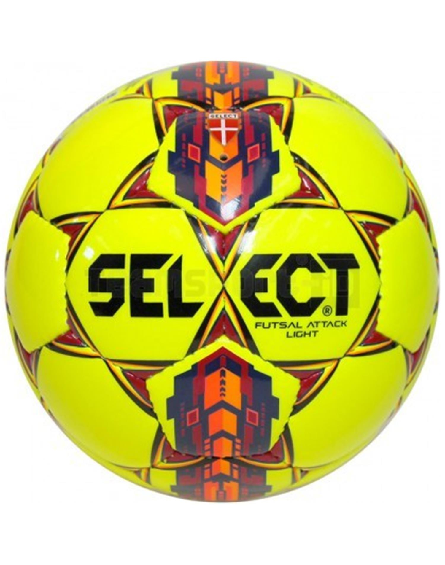SELECT Pallone calcio a 5 Futsal Attack Light (CALCIO A 5 - GIALLO - ARANCIO)