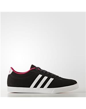 ADIDAS Courtset Shoes Donna (40-2/3 - NERO - BIANCO - ROSA)
