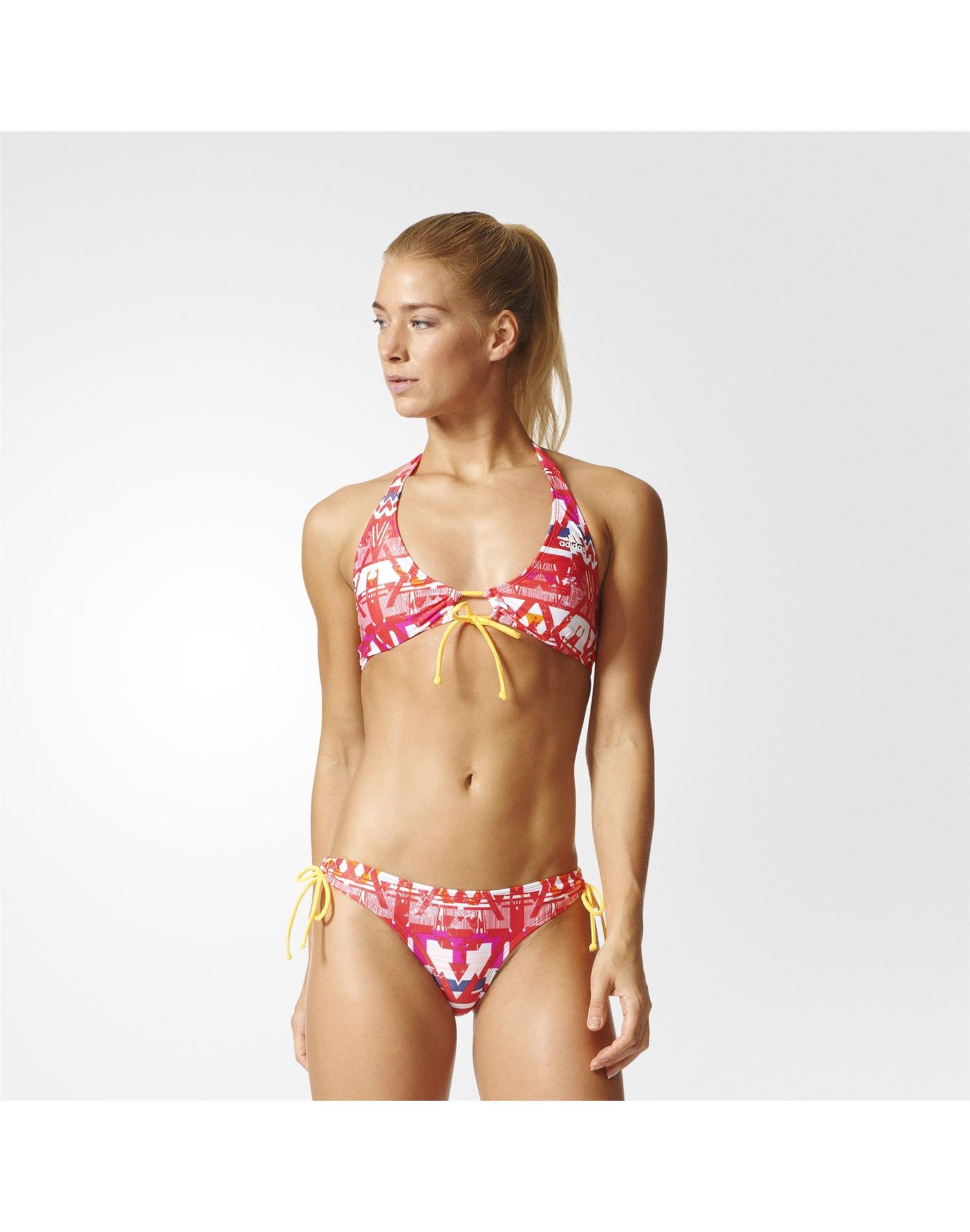 ADIDAS Bikini Allover Printer Halter-Neck