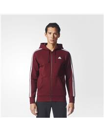 ADIDAS Felpa con Cappuccio Essentials 3-Stripes Fleece