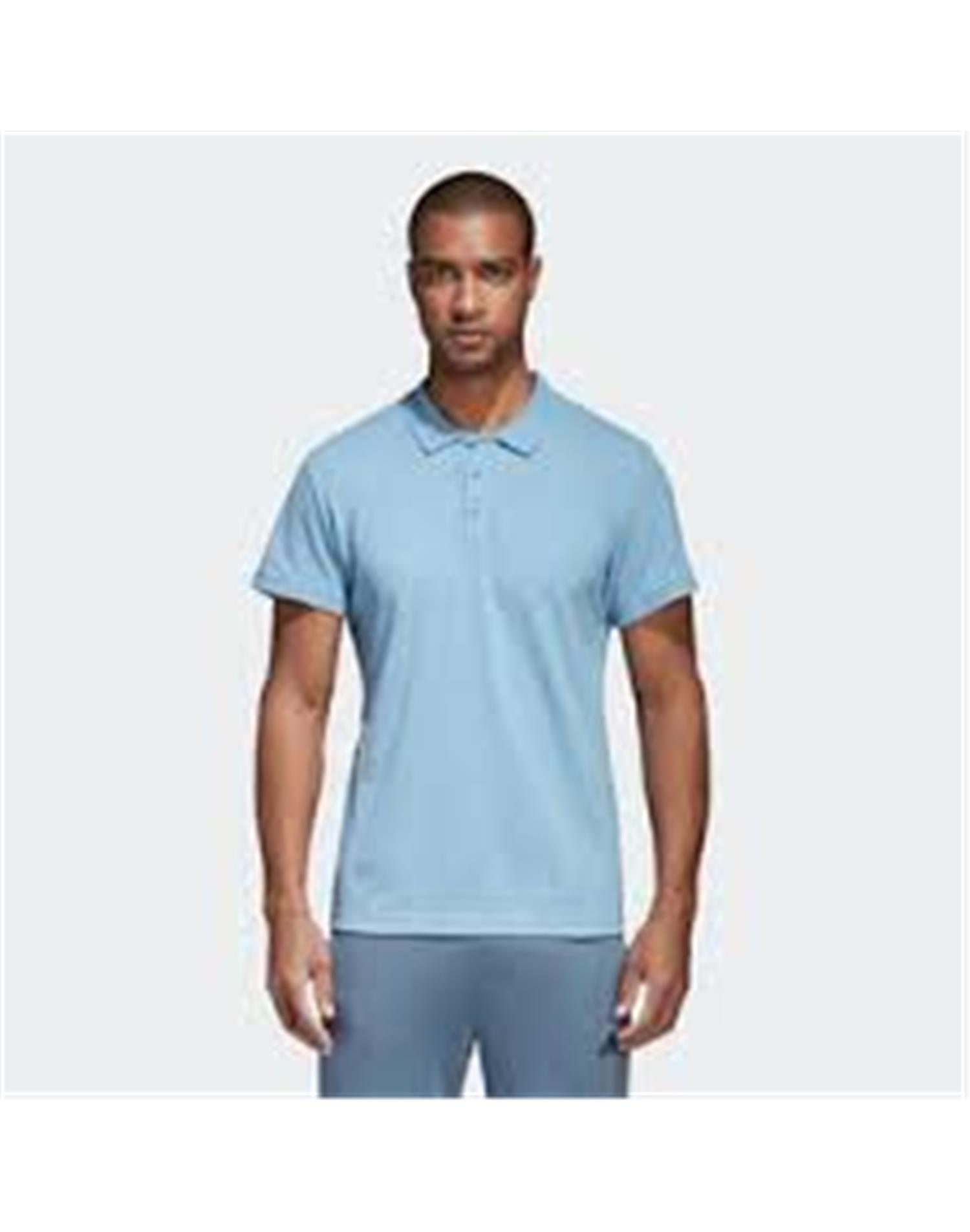 ADIDAS Polo Adidas Essentials Basic (S - CELESTE)