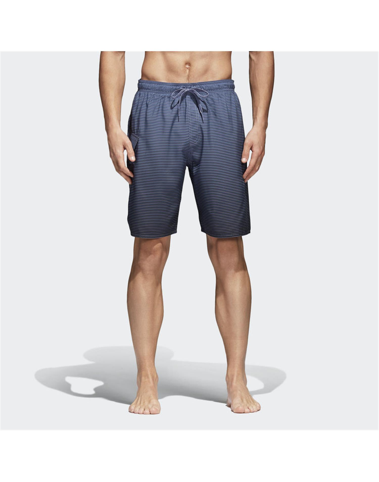 ADIDAS Costume Short 3-Stripes Fading (M - NERO - GRIGIO)