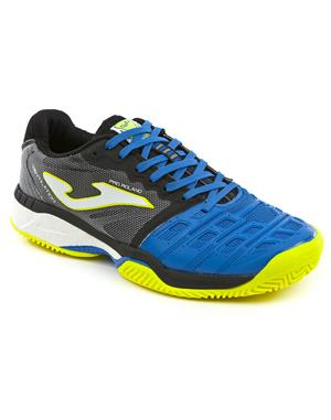 JOMA Scarpa Tennis Pro Roland All Court (43 - Royal - Nero - Giallo fluo)