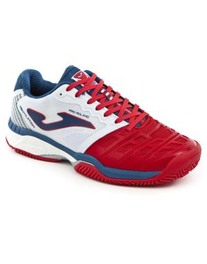 JOMA Scarpa Tennis Pro Roland All Court (42.5 - Rosso - Bianco - Royal)