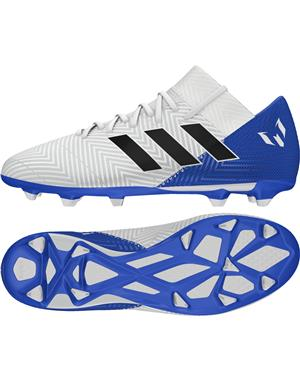 ADIDAS Scarpe da calcio Nemeziz Messi 18.3 Firm Ground (40-2/3 - BIANCO - ROYAL)