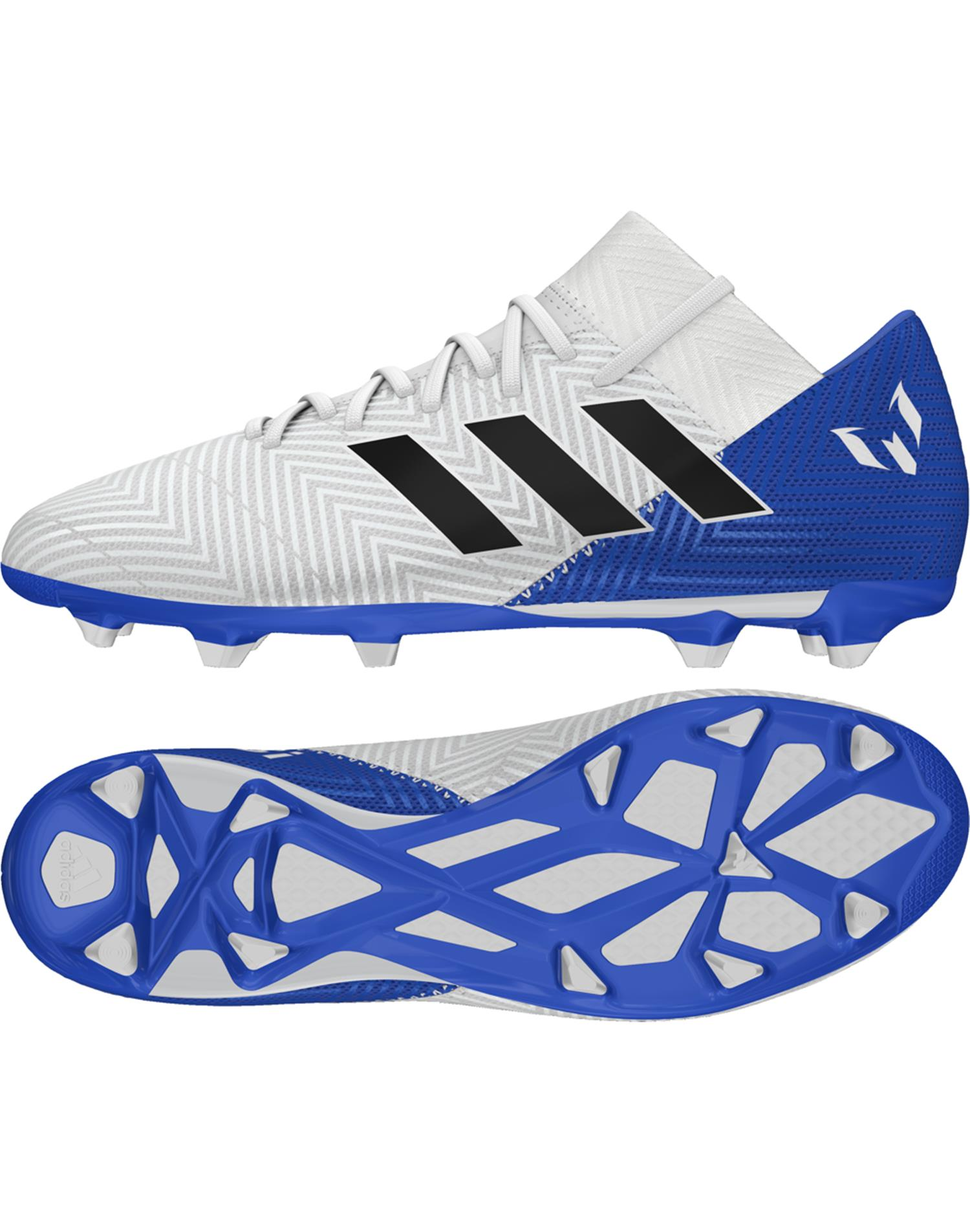 ADIDAS Scarpe da calcio Nemeziz Messi 18.3 Firm Ground (43-1/3 - BIANCO - ROYAL)