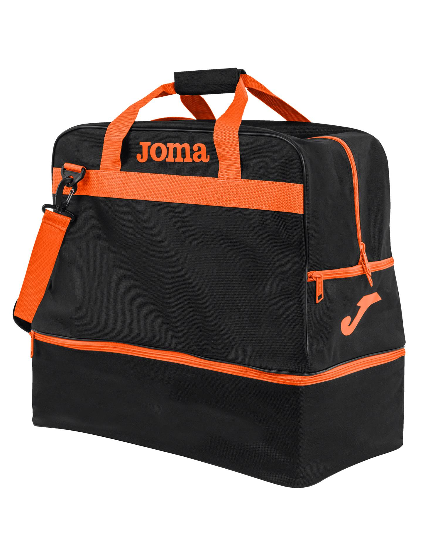 JOMA Borsa Joma Training III Media (M -48X49X32 - NERO - ARANCIO)
